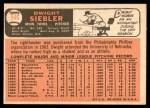 1966 Topps #546  Dwight Siebler  Back Thumbnail