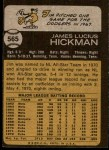 1973 Topps #565  Jim Hickman  Back Thumbnail