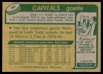 1980 Topps #95  Mike Palmateer  Back Thumbnail