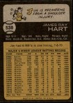 1973 Topps #538  Jim Ray Hart  Back Thumbnail