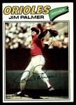 1977 Topps #600  Jim Palmer  Front Thumbnail