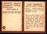 1967 Philadelphia #80  Dave Robinson  Back Thumbnail