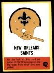 1967 Philadelphia #132   New Orleans Saints Helmet #132 Front Thumbnail