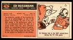 1965 Topps #79  Ed Husmann  Back Thumbnail