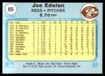 1982 Fleer #65  Joe Edelen  Back Thumbnail