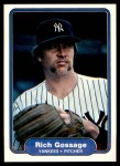 1982 Fleer #37  Goose Gossage  Front Thumbnail
