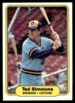 1982 Fleer #152  Ted Simmons  Front Thumbnail