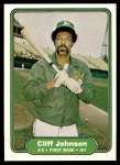 1982 Fleer #93  Cliff Johnson  Front Thumbnail