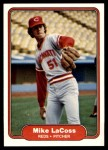 1982 Fleer #72  Mike LaCoss  Front Thumbnail