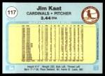 1982 Fleer #117  Jim Kaat  Back Thumbnail