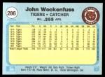 1982 Fleer #286  John Wockenfuss  Back Thumbnail