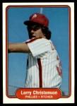 1982 Fleer #244  Larry Christenson  Front Thumbnail