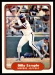 1982 Fleer #330  Billy Sample  Front Thumbnail