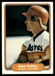 1982 Fleer #212  Alan Ashby  Front Thumbnail