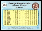 1982 Fleer #264  George Cappuzzello  Back Thumbnail