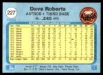 1982 Fleer #227  Dave Roberts  Back Thumbnail