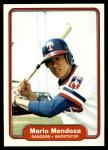 1982 Fleer #325  Mario Mendoza  Front Thumbnail