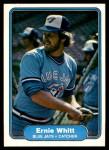 1982 Fleer #626  Ernie Whitt  Front Thumbnail