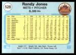 1982 Fleer #528  Randy Jones  Back Thumbnail