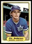 1982 Fleer #503  Jim Anderson  Front Thumbnail