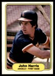 1982 Fleer #463  John Harris  Front Thumbnail