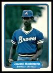 1982 Fleer #449  Claudell Washington  Front Thumbnail