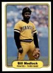 1982 Fleer #485  Bill Madlock  Front Thumbnail