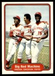 1982 Fleer #630   -  Dave Concepcion / George Foster / Dan Driessen Big Red Machine Front Thumbnail