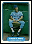 1982 Fleer #445  Gaylord Perry  Front Thumbnail