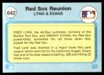 1982 Fleer #642   -  Fred Lynn / Dwight Evans Red Sox Reunion Back Thumbnail