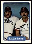 1982 Fleer #639   -  Len Barker / Bo Diaz Perfect Game Front Thumbnail