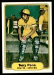 1982 Fleer #490  Tony Pena  Front Thumbnail