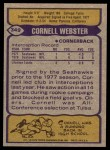 1979 Topps #349  Cornell Webster  Back Thumbnail