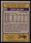 1979 Topps #479  Terry Nelson  Back Thumbnail