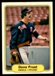 1982 Fleer #460 A Dave Frost  Front Thumbnail