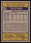1979 Topps #389  Ed O'Neil  Back Thumbnail