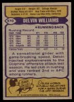 1979 Topps #370   -  Delvin Williams All-Pro Back Thumbnail