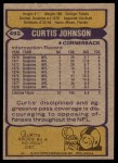 1979 Topps #493  Curtis Johnson  Back Thumbnail