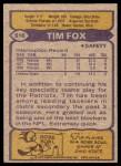1979 Topps #516  Tim Fox  Back Thumbnail