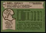 1978 Topps #486  Mel Gray  Back Thumbnail