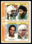 1978 Topps #519   Jets Leaders Checklist Front Thumbnail