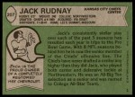 1978 Topps #207  Jack Rudnay  Back Thumbnail