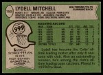 1978 Topps #150  Lydell Mitchell  Back Thumbnail