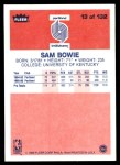 1986 Fleer #13  Sam Bowie  Back Thumbnail