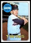 1969 Topps #242  Frank Kostro  Front Thumbnail