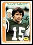 1978 Topps #186  Chuck Ramsey  Front Thumbnail