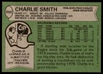 1978 Topps #259  Charlie Smith   Back Thumbnail