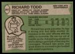 1978 Topps #267  Richard Todd  Back Thumbnail