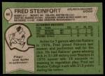 1978 Topps #66  Fred Steinfort  Back Thumbnail