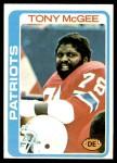 1978 Topps #16  Tony McGee   Front Thumbnail
